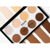 Bảng tạo khối highlight kem NYX Cream Highlight & Contour Palette